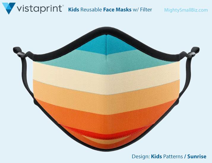 vistaprint kids facemasks sunrise