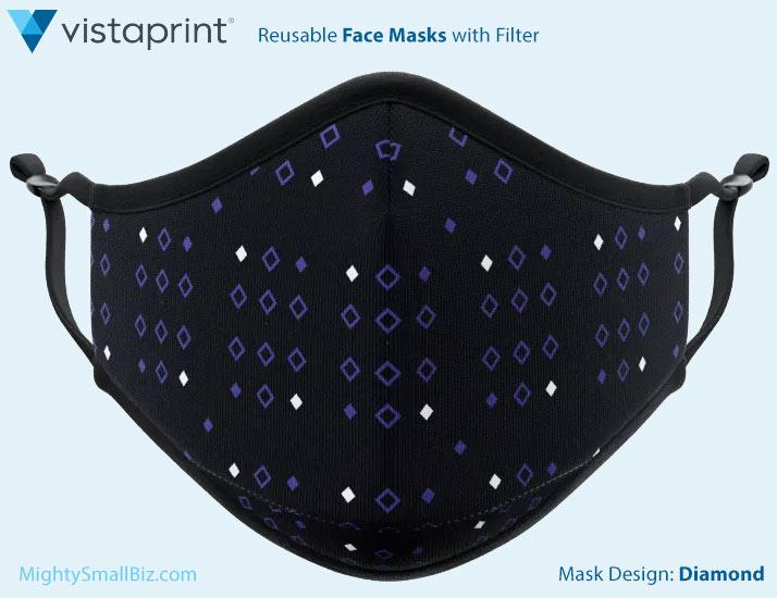 vistaprint mask simple diamond