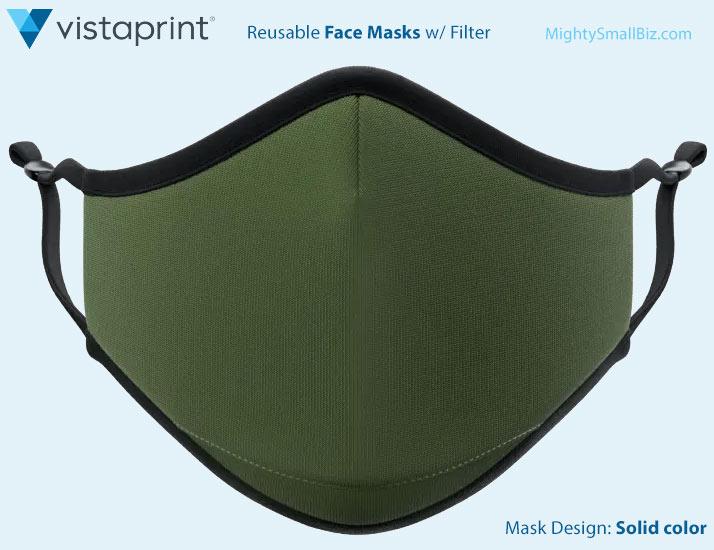 vistaprint mask solid color