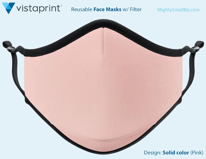 vistaprint mask solid color pink