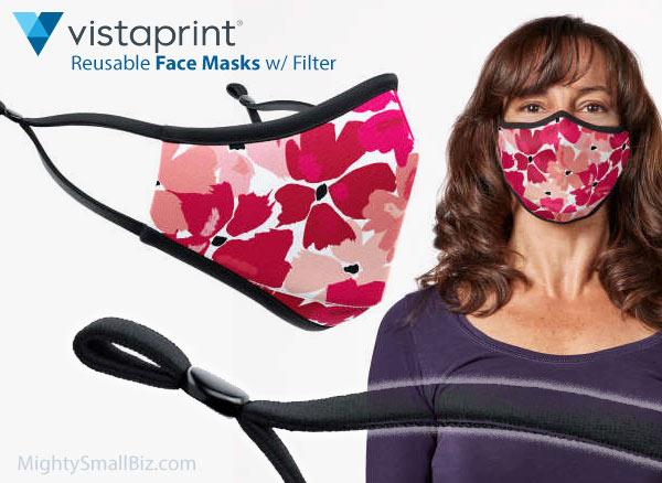 vistaprint face mask floral print