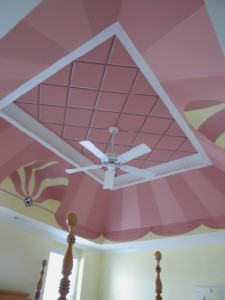 Pattern - Stripes on the ceiling - Party Tent