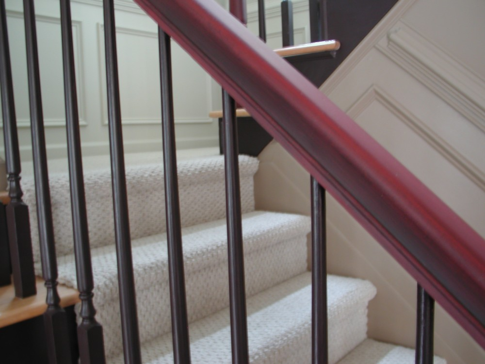 Aged Red Handrail with Aubergine spindals