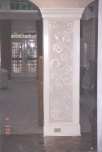 Column with Accent mural
