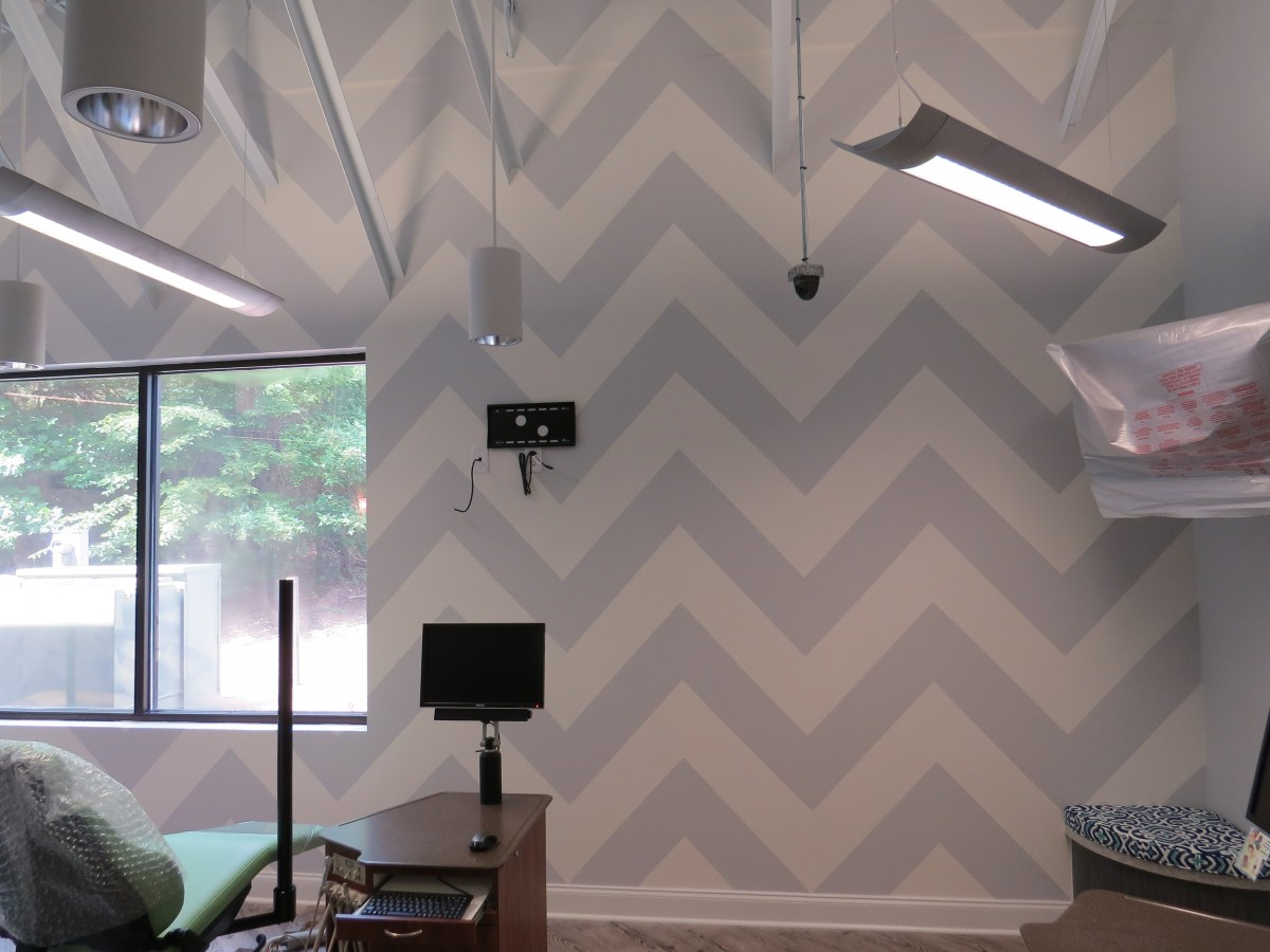 Commercial - Chevron Pattern in Dentist Office