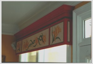 Accent Mural on Cornice Board