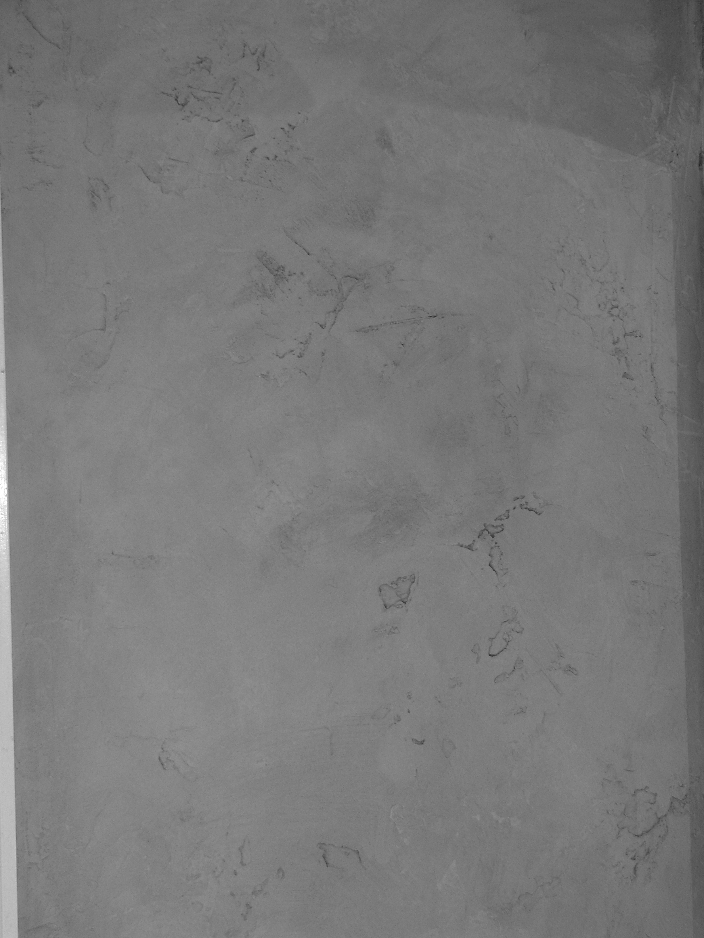 Texture Plaster with glaze in gray