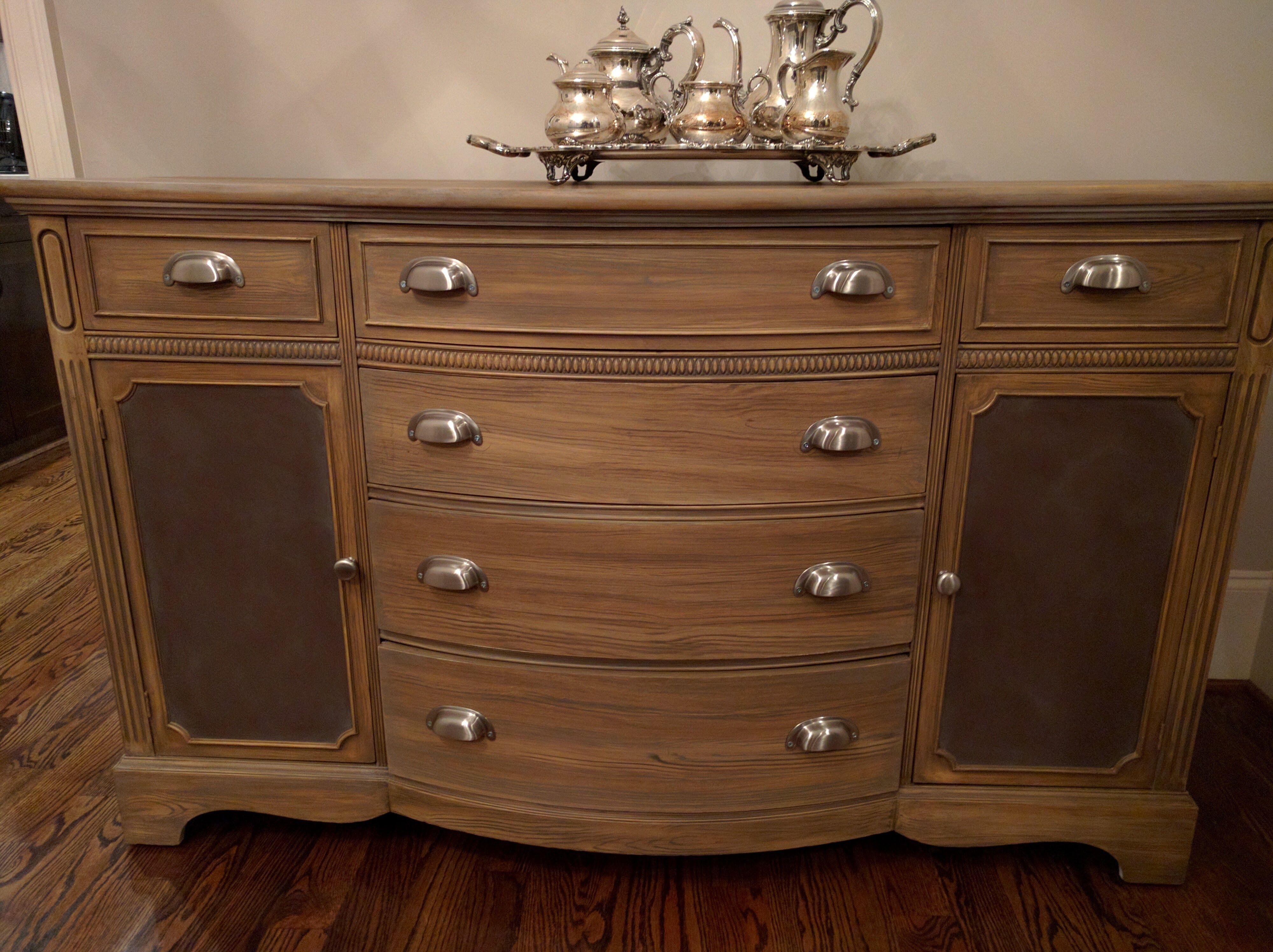 Faux wood Aged Buffet