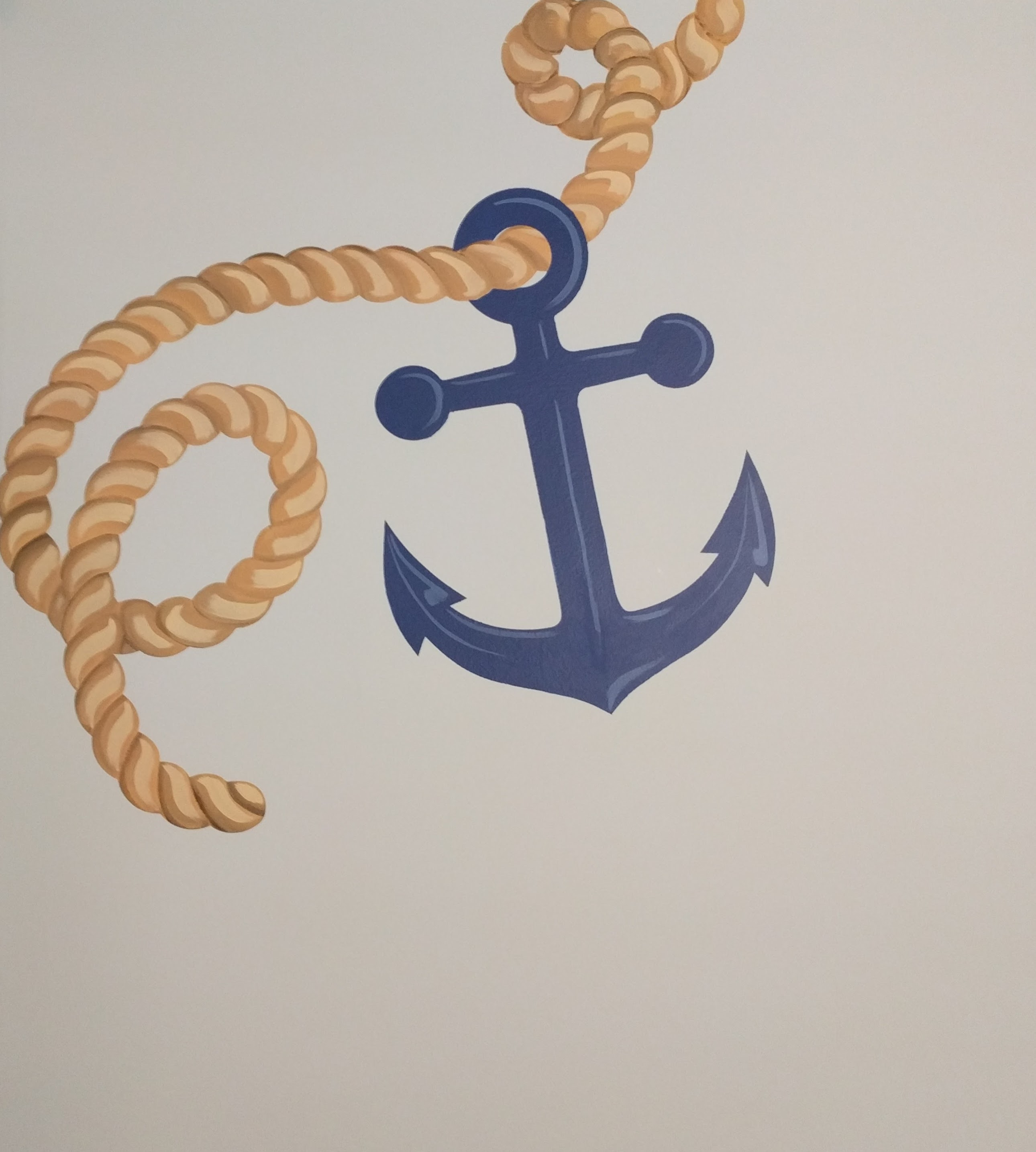 Rope & Anchor Accent Mural