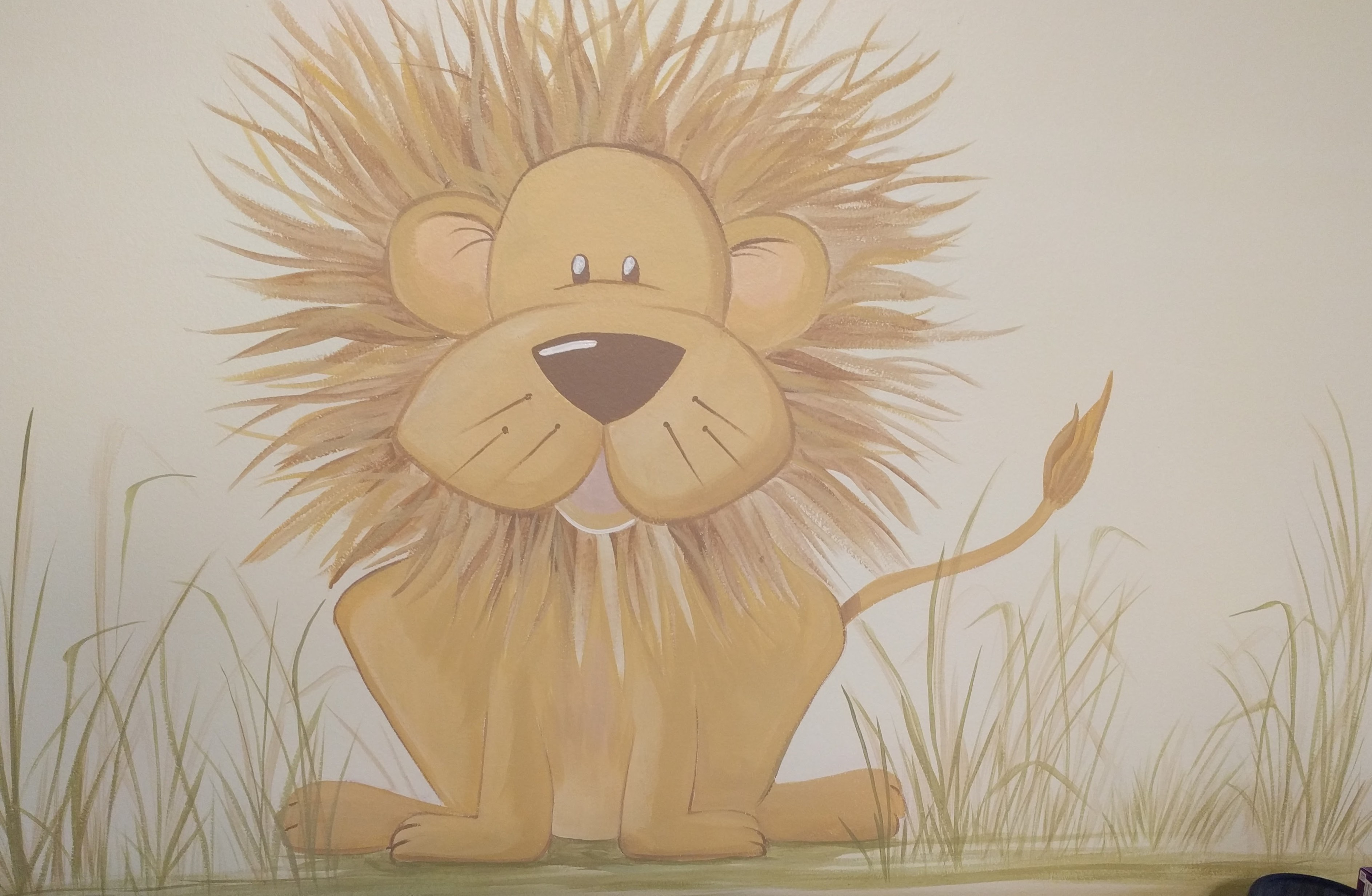 Lion over Changing Table