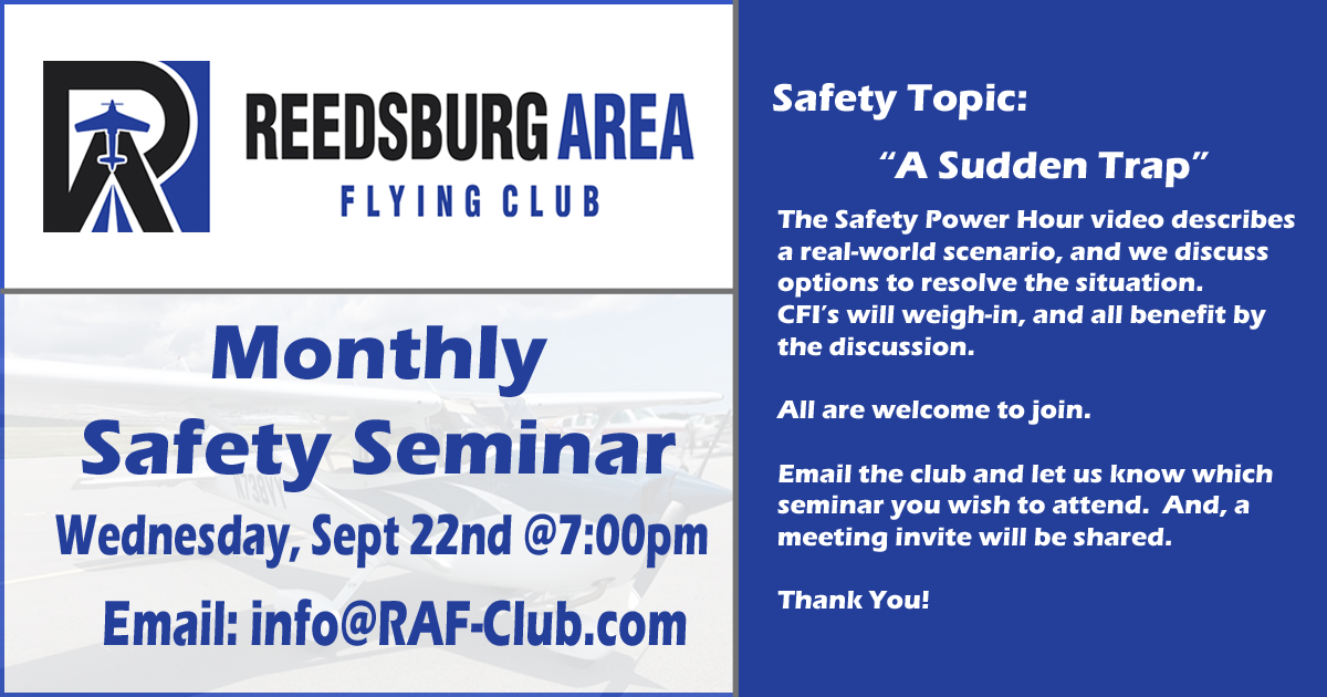 Monthly Safety Seminars - PostCard - RAFC - Sept 2021a