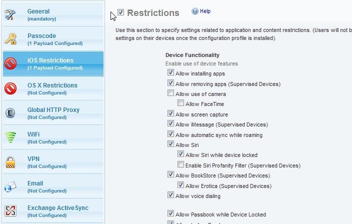 ios configuration profiles