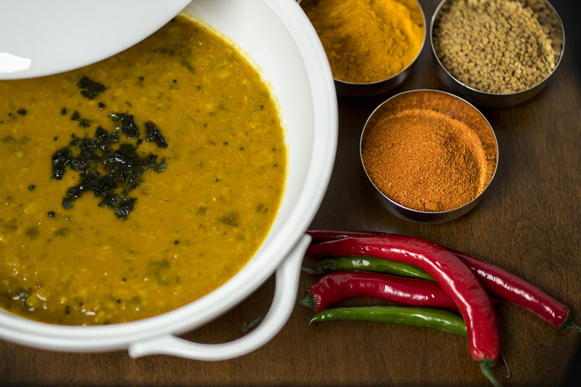 Sambar-Spiced lentil curry