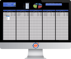 Image of the TJS Elite Broker Accounts, shown on a desktop monitor
