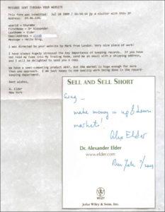 Alexander Elder - email