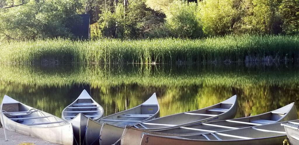 canoes on Lake Vera