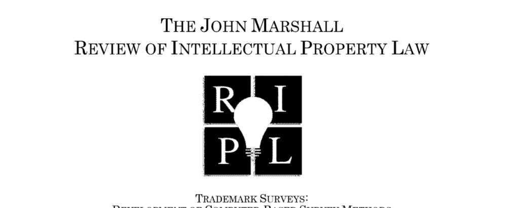 Trademark Infringement Survey John Marshall Review of Intellectual Property Law