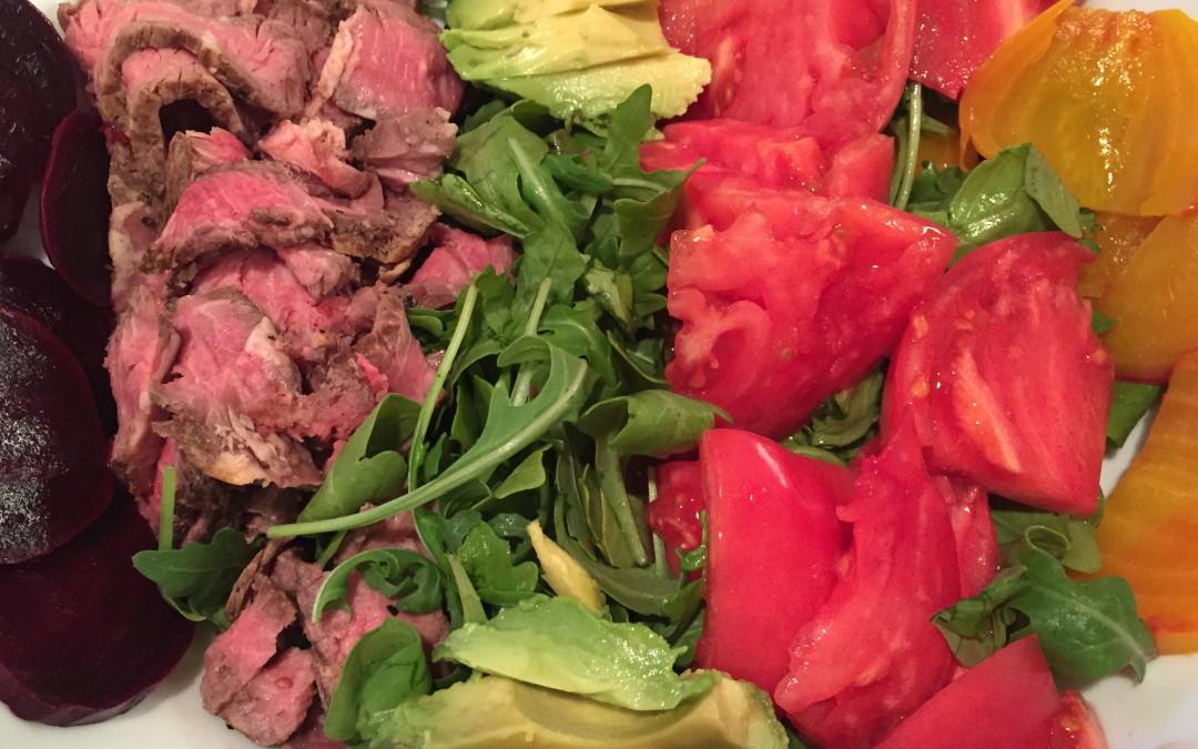 Steak, Beet and Arugula Salad
