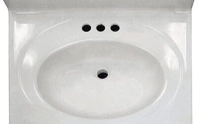 white single bowl vanity top