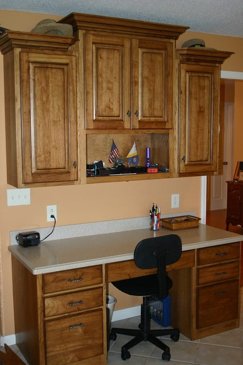 Desk and cabinets by S&W Cabinets