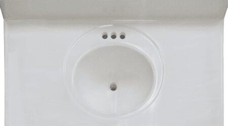 single bowl vanity top