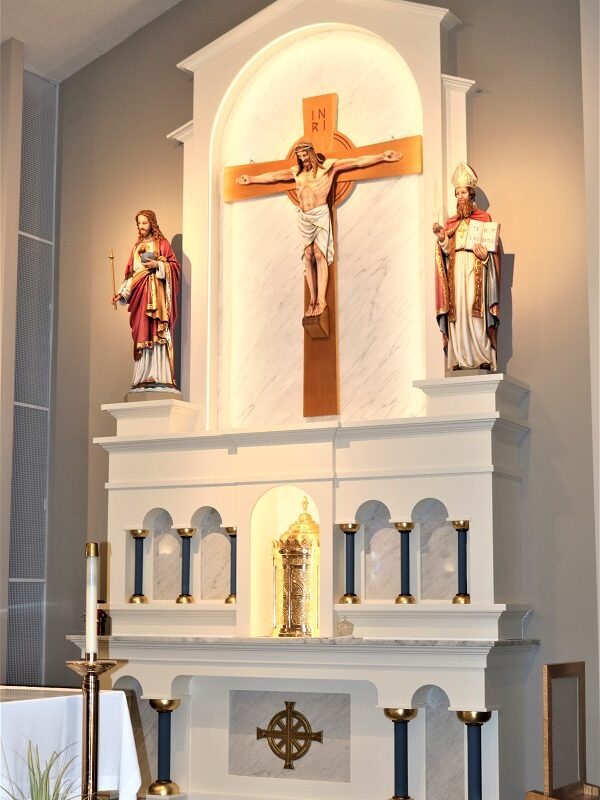 St. Ambrose Church Altar and Crucifix