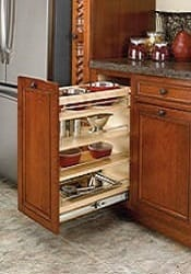 base cabinet pullout with wood adjustable shelves