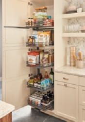 complete system swing out tall pantry