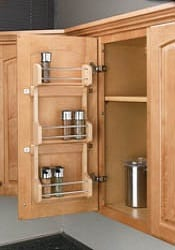 door storage spice rack wall