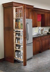 filler pullout organizer tall pantry accessories