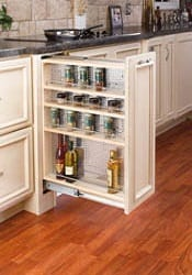 filler pullout organizer with wood adjustable shelves