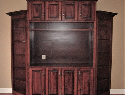 entertainment center by S&W Cabinets