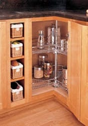 kidney shape 2 shelf wire lazy susan