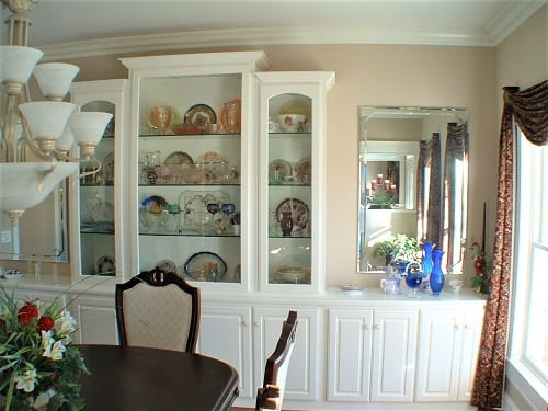 hutch and china cabinet by S&W Cabinets