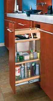 pullout grooming bathroom organizer