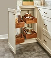 pullout walnut blind corner accessory