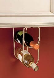 under cabinet wine bottle holder