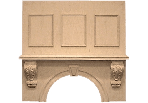 Keystone Mantle with Corbels