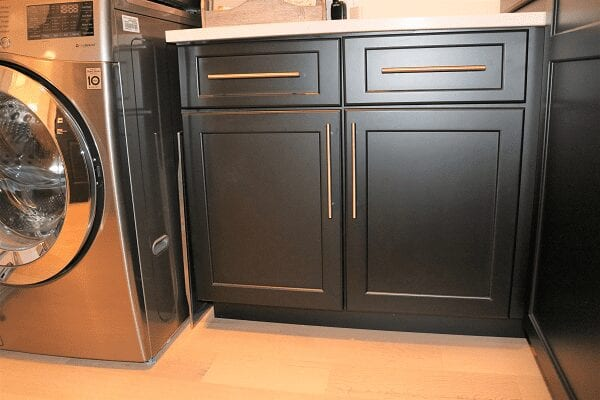 Likens Project laundry room base cabinets