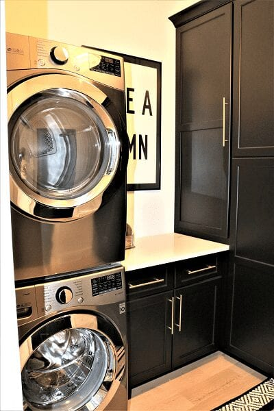Likens Project laundry room cabinets