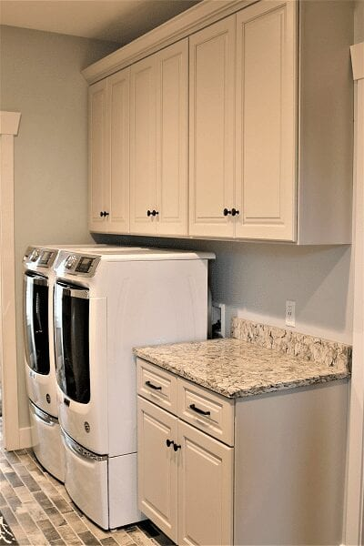 Zach & Jacklyn Essner Project Laundry Room cabinets by S&W Cabinets
