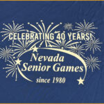 2020 Nevada Senior Games tee shirt art