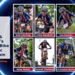 photos of usa cycling's 2021 mountain bike olympic long team
