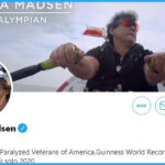 Twitter profile of Angela Madsen, paralympian and ocean rower