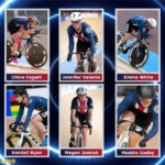 photos of USA Cycling's track cycling Olympic long team