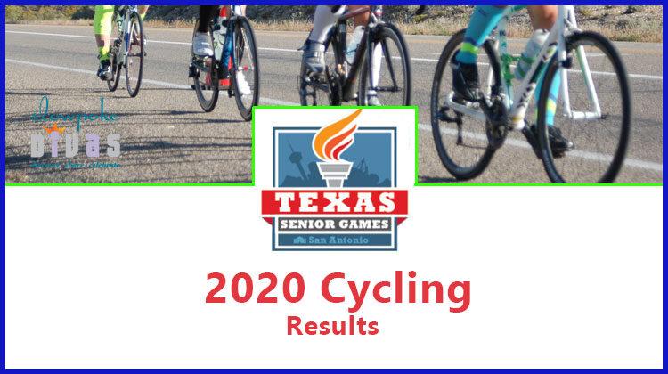 2020 Texas Senior Games women's cycling results