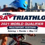 USA Triathlon 2021 world qualifier logo with background image by Integrity Multisport Inc