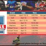 2021 Texas Senior Games spring schedule