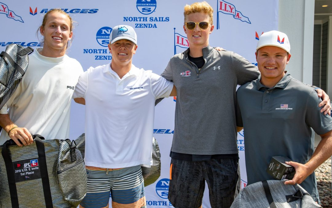 Harry Melges IV and the I-1 team win the 2018 ILYA E Scow Invitational. Strothman, V. Porter and Cox right on his tail giving LGYC Members 1st-4th in the event.