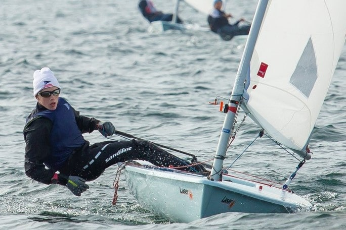 Chapman Petersen finished 2nd at High School Singlehanded Nationals